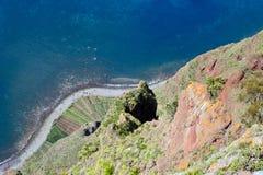 Madera, Funchal, Vooruitzicht Cabo Girao royalty-vrije stock afbeeldingen