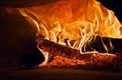 Madera owen de la pizza Imagen de archivo
