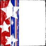 Madera patriótica Foto de archivo libre de regalías