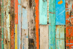 Madera pintada vieja fotografía de archivo libre de regalías