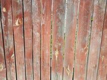 Madera pintada vieja del marrón de madera de la cerca Foto de archivo