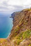 Madera, Ponta do Pargo - trillende klippenkust Royalty-vrije Stock Foto's