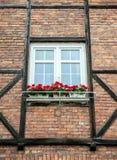 Madera que enmarca en Gdansk Imagen de archivo libre de regalías