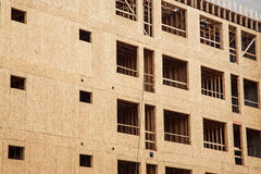 Madera que forra en la construcción del apartamento Imagen de archivo libre de regalías