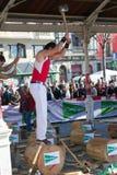 Madera que taja en Bilbao Fotos de archivo libres de regalías