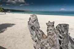 Madera que talla en la playa cubana Imagen de archivo libre de regalías