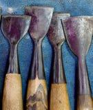 Madera que talla las herramientas Imagen de archivo