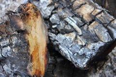 Madera quemada Fotografía de archivo