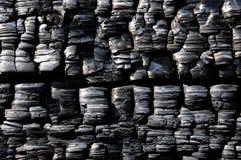 Madera quemada negro Imágenes de archivo libres de regalías