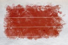 Madera roja con las fronteras raspadas de la nieve libre illustration