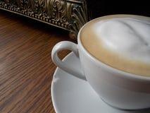 Madera saltada Latte horizontal Foto de archivo libre de regalías