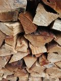 madera secada para la estufa fotografía de archivo libre de regalías