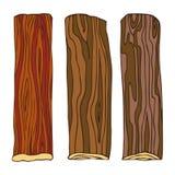 Madera, tablero afilado para el diseño de madera del modelo, marco Dibujo de la mano en estilo del bosquejo Objetos aislados en u ilustración del vector