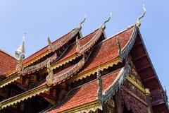 Madera tailandesa de la capilla, Lanna Style Fotos de archivo libres de regalías