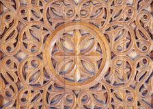 Madera tallada adornada foto de archivo