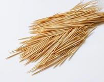 Madera toothpicks fotografía de archivo libre de regalías