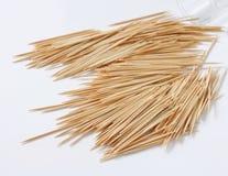 Madera toothpicks foto de archivo