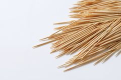 Madera toothpicks imagen de archivo