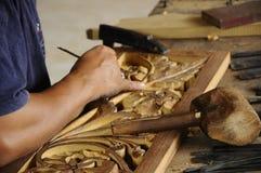 Madera tradicional malasia que talla de Terengganu Imagen de archivo