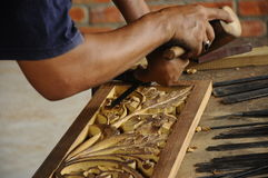 Madera tradicional malasia que talla de Terengganu Fotos de archivo