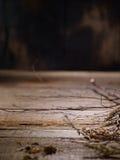 Madera vieja con las ramitas Fotografía de archivo libre de regalías