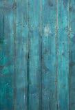Madera vieja de la turquesa fotografía de archivo