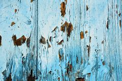 Madera vieja pintada en textura azul Imagenes de archivo