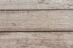 Madera vieja separada horizontalmente en el fondo Foto de archivo