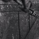 Madera y cadenas Fotografía de archivo