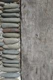 Madera y piedra Imagen de archivo libre de regalías
