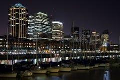 madero noc puerto Zdjęcia Royalty Free