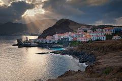 Madery wyspa, Portugalia, Europa, zmierzch w Canical Zdjęcie Royalty Free