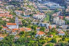 Madery wyspa w Portugalia Funchal miasteczko fotografia stock