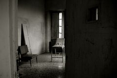 Madhouse #01. An ex criminal insane asylum in italy Stock Photos