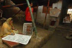 Madhubani Anstrich in Bihar-Indien Lizenzfreies Stockbild