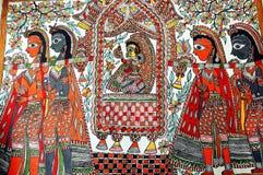 madhubanimålning royaltyfri fotografi