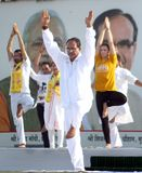 4th International Yoga Day celebrated in Bhopal Stock Photo