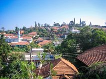 Madikeri town, Coorg, Karnataka, India. Madikeri is a hill station town in Karnataka, India. It is also known as Mercara and is the headquarters of the district Stock Photography