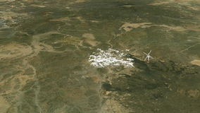 Madina holy city from space stock video