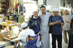 Madinah杂货和纪念品经销商摆在 库存照片