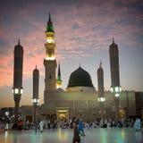 Madinah после захода солнца Стоковое Изображение