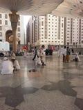 Madinah Nabawi moské arkivbild