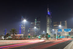 Madinat al-Kuwait alla notte Fotografie Stock