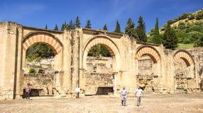 Madinat al-Zahra visitors Stock Photos