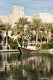 Madinat Jumeirah旅馆,迪拜,阿拉伯联合酋长国看法  免版税库存照片