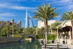 Madinat Jumeirah旅馆,迪拜,阿拉伯联合酋长国看法  库存照片
