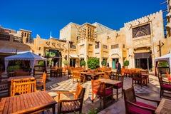 Madinat Jumeirah著名旅馆和游人区 库存照片