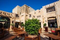 Madinat Jumeirah著名旅馆和游人区 图库摄影