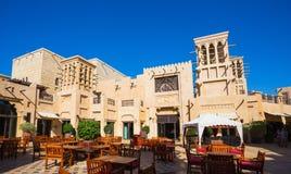 Madinat Jumeirah著名旅馆和游人区 免版税库存照片