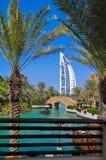 Madinat Jumeirah - árabe Venecia en Dubai foto de archivo
